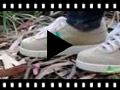 Video from Sneakers scamosciate con tela bandiera
