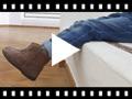 Video from Stivaletti bambina scamosciati treccia laterale