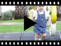 Video from Espadrillas per bambina in tela di lino con punta