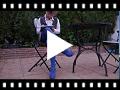 Video from Scarpe con Cinturino in tessuto effetto camoscio