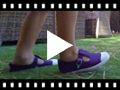 Video from Sneakers Tela Bambini Punta Gomma Tipo T-bar