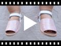 Video from Minorchine per Neonata Imitazione Camoscio Brillantini