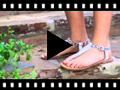 Video from Sandali Pelle infradito Animal Print