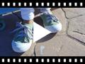 Video from Scarpe tela punta gomma lacci