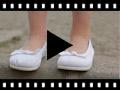 Video from Ballerine scarpe primi passi elastico tela fiocco