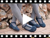 Video from Scarpe bambina con chiusura a cinturino