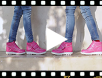 Video from Stivali vernice bambini con Velcro