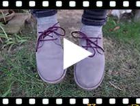 Video from Scarpe Blucher scamosciate suola e lacci colorati