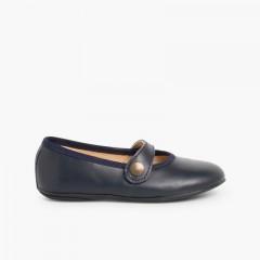 Scarpe bambina pelle colorate Blu