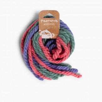 Cordoni di lana per capelli Rosa e azzurro