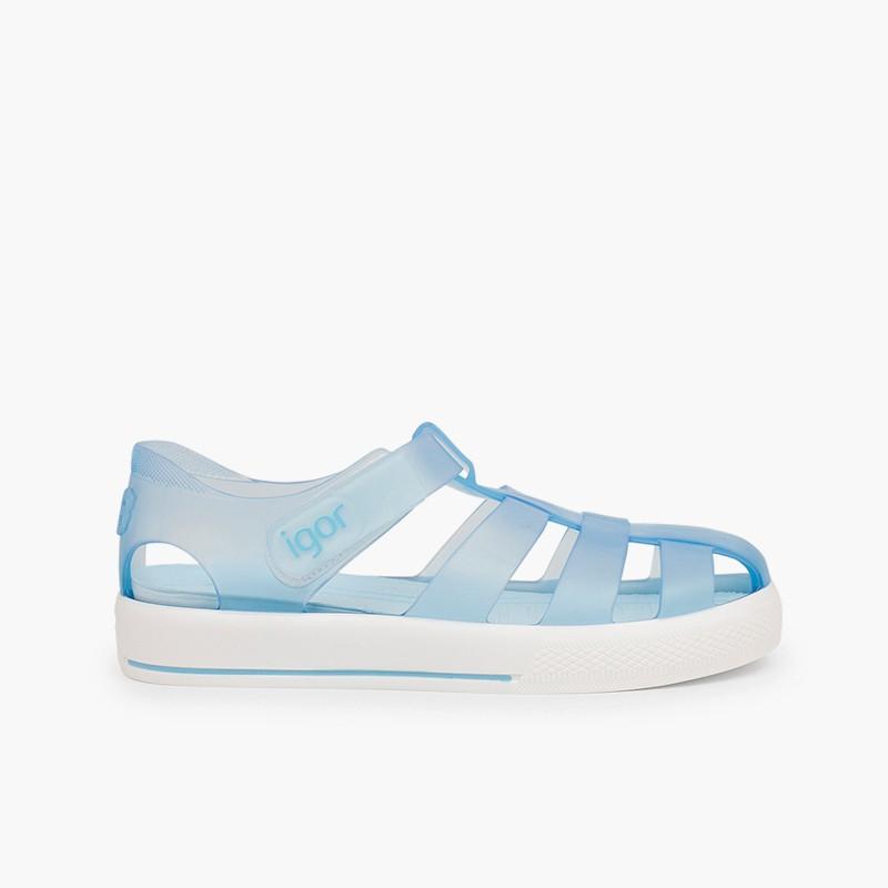 Sandali ragnetti con chiusura a strappo tipo scarpe da tennis