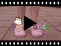 Video from Scarpe di tela velcro fiocco a pois