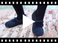 Video from Scarpe bambina effetto scamosciato Velcro