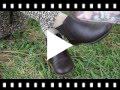 Video from Stivaletti bambina pelle con elastico laterale