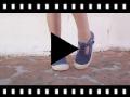 Video from Scarpe semiaperte di tela slavata punta gomma