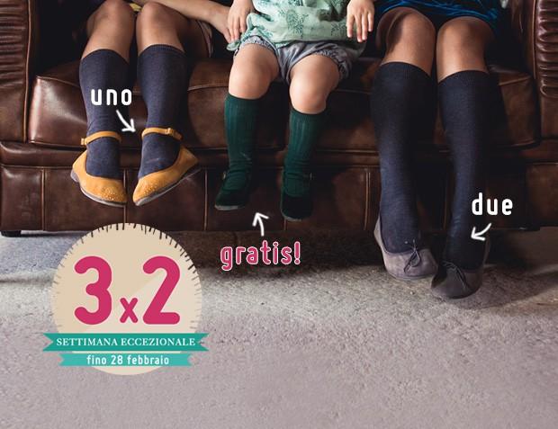 3x2 Ballerine per Bambina