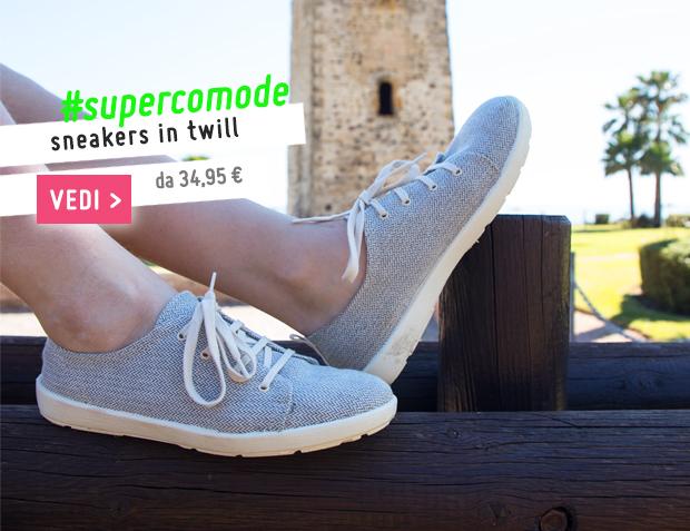 Sneakers Casual Tela Twill Collezione Primavera Estate 2017