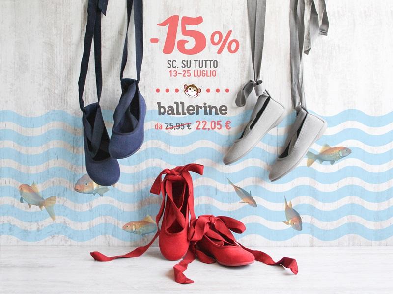 Ballerine Bambina e Donna Saldi